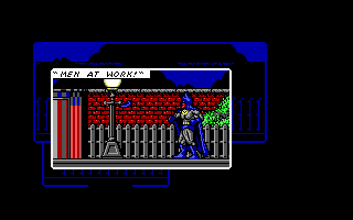 Batman: The Caped Crusader DOS Throwing a batarang. (EGA)