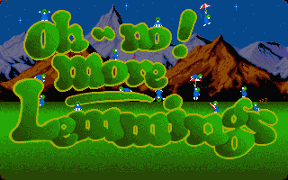 Oh No! More Lemmings Atari ST Title screen