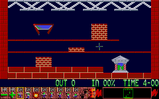 Oh No! More Lemmings Atari ST Starting level one