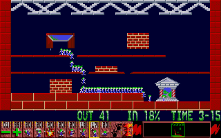 Oh No! More Lemmings Atari ST Straight to the exit