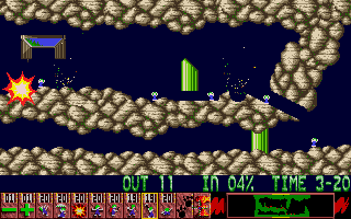 Oh No! More Lemmings Atari ST Blowing up the Lemmings