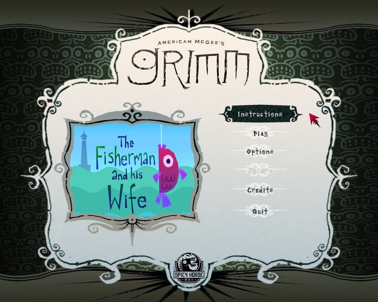 American McGee's Grimm: The Fisherman and His Wife Windows Main menu
