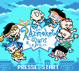Rugrats in Paris: The Movie Game Boy Color Title screen (French version)