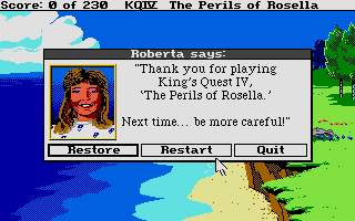 King's Quest IV: The Perils of Rosella Atari ST Thanks for the advice
