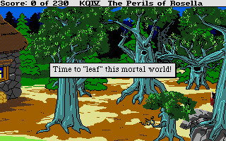 King's Quest IV: The Perils of Rosella Atari ST That was the end of my adventure