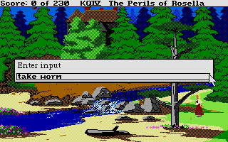 King's Quest IV: The Perils of Rosella Atari ST Entering a command