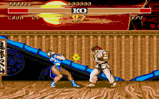 Street Fighter II Atari ST It's not nice to hit a girl