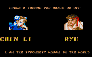 Street Fighter II Atari ST Ryu lost