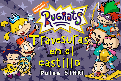 Rugrats: Castle Capers Game Boy Advance Title screen (Spanish version)