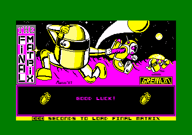 The Final Matrix Amstrad CPC Title screen