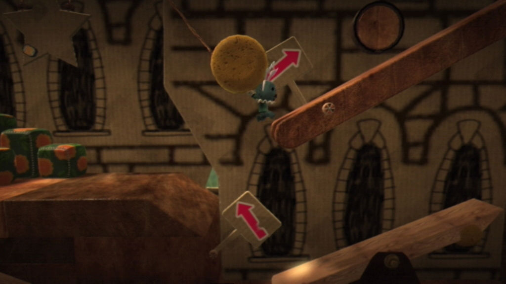 LittleBigPlanet PlayStation 3 Grab onto things and swing left and right with them.