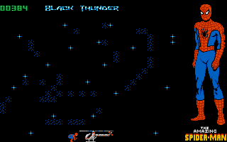 The Amazing Spider-Man DOS Climbing aboard the Black Thunder.