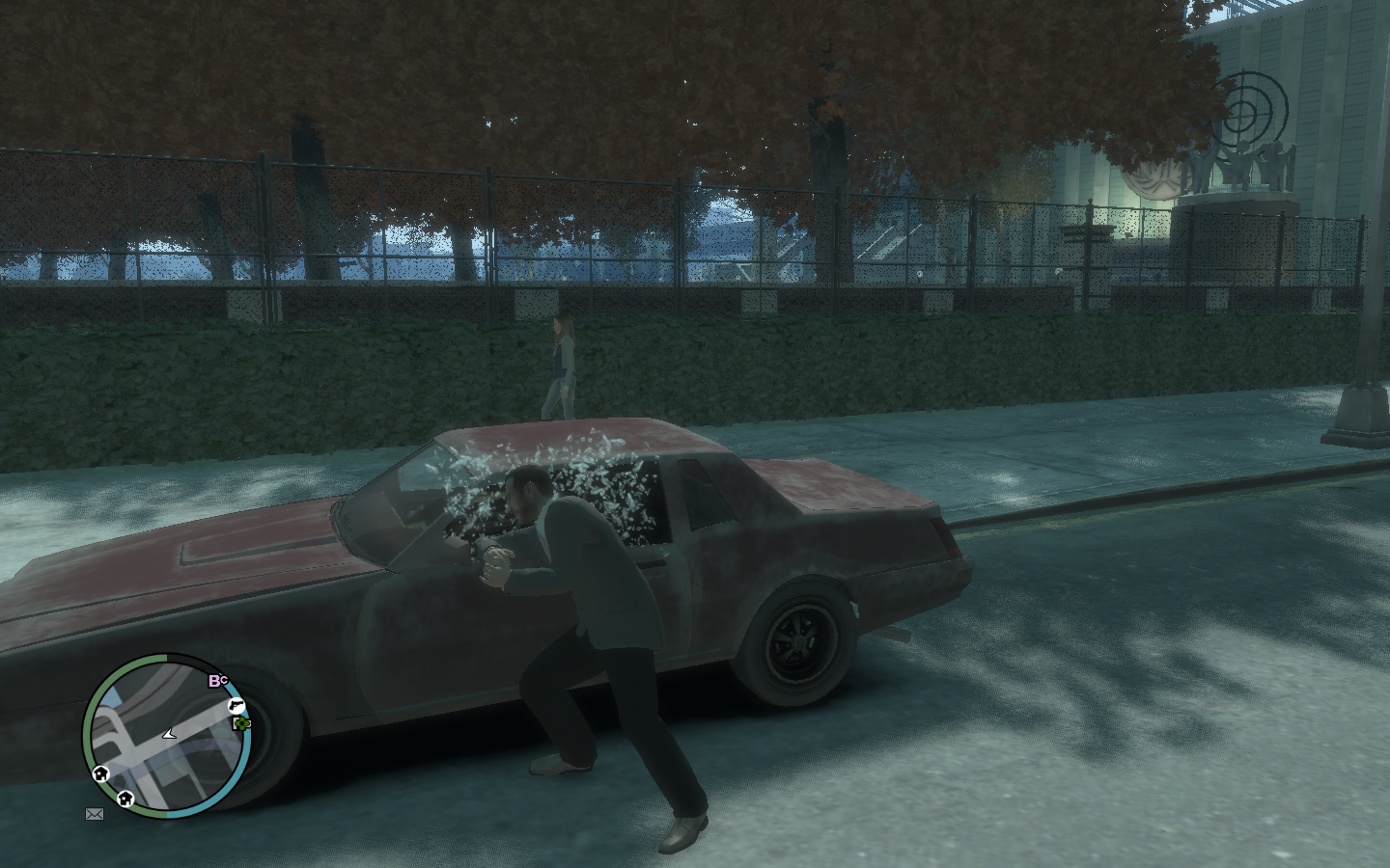 Grand Theft Auto IV Windows Stealing a car.
