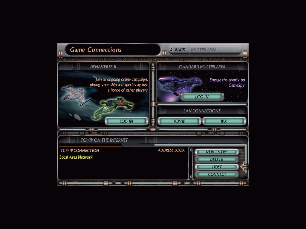 Star Trek: Starfleet Command Volume II - Empires at War Windows Setting up a multiplayer game.