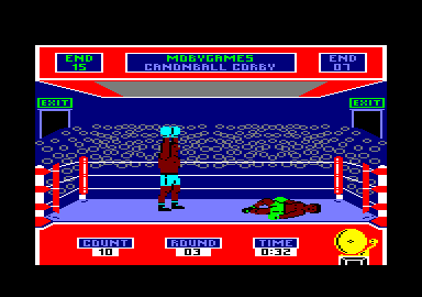 Star Rank Boxing Amstrad CPC WINNER BY A KNOCK OUT!