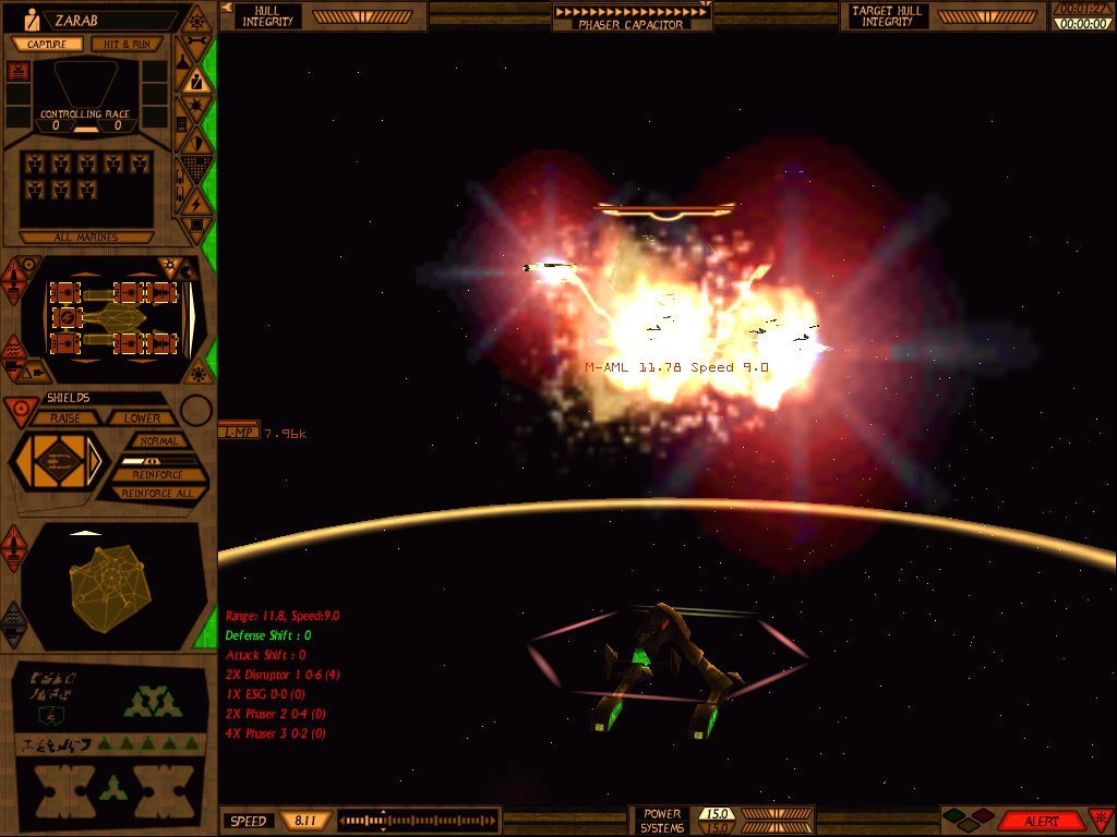 Star Trek: Starfleet Command Volume II - Empires at War Windows Explosions in SFC2 are glorious.