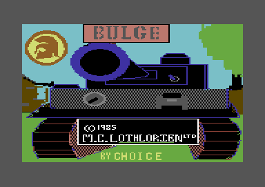 The Bulge: Battle for Antwerp Commodore 64 Title screen