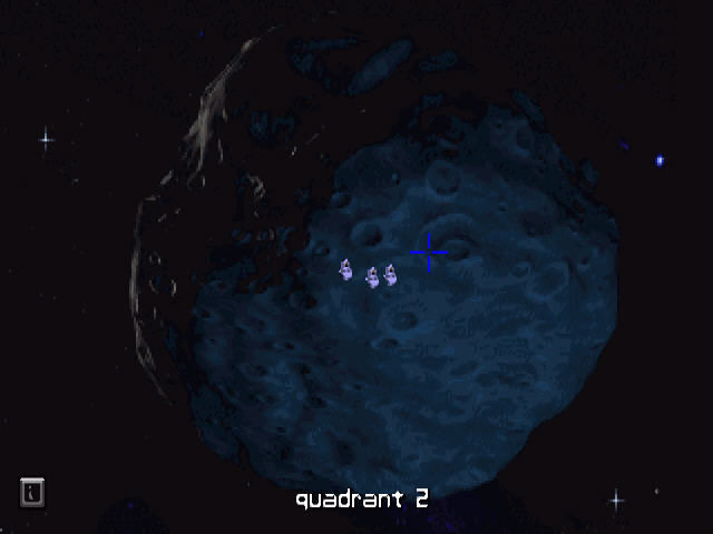 The Dig Windows Moving around asteroid.