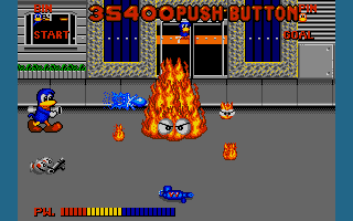 Dynamite Düx Amiga Fire monster boss.