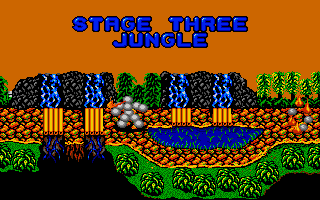 Dynamite Düx Amiga Map of stage three.