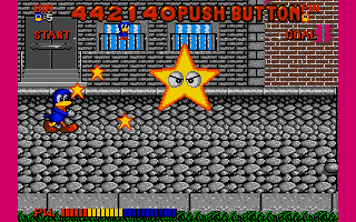 Dynamite Düx Amiga Fight against shooting star.