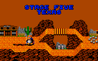 Dynamite Düx Amiga Map of stage five.