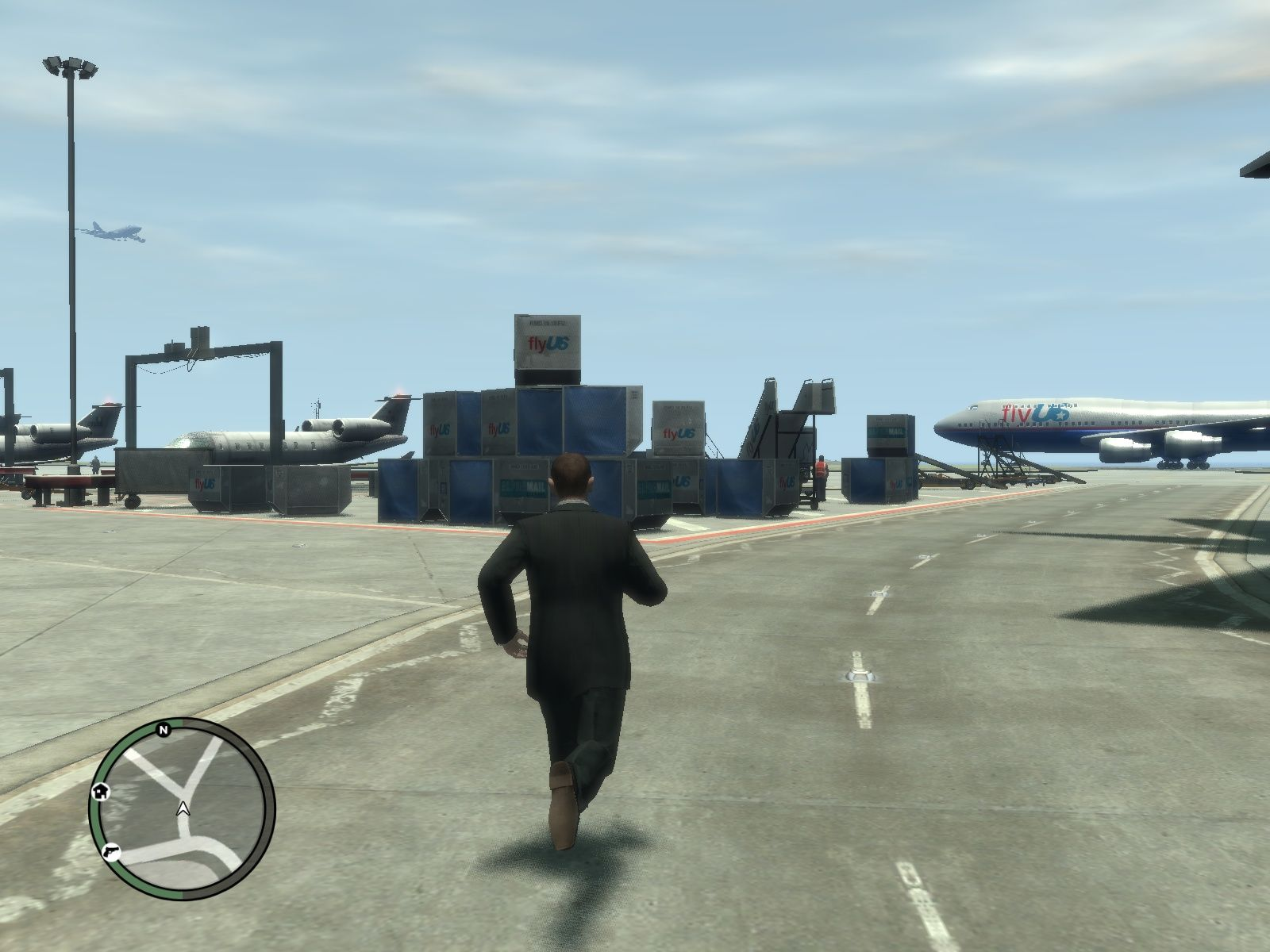 Grand Theft Auto IV Windows There are planes in the game but you can't fly any of them.