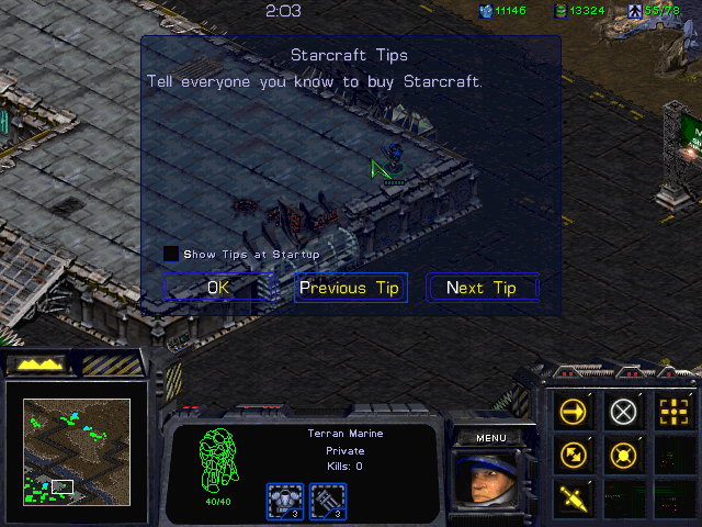 StarCraft Windows Read, my fellow Mobygames users, read that tip.