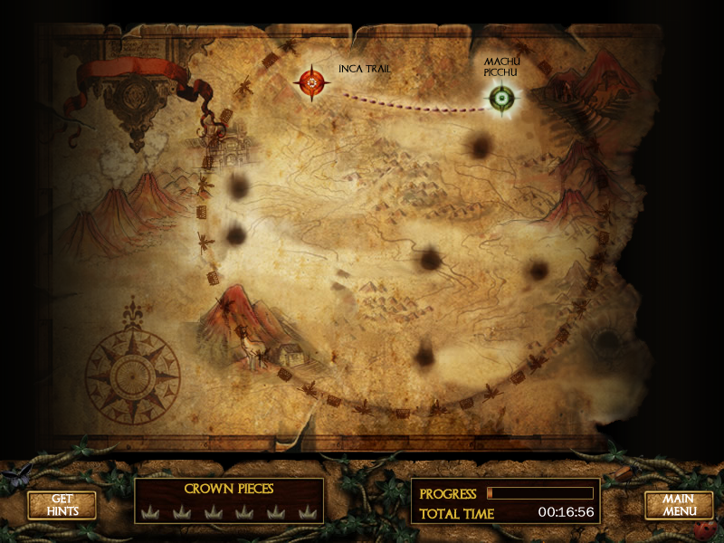 Lost Realms: Legacy of the Sun Princess Windows Locations are marked on the map.