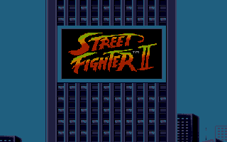 Street Fighter II Atari ST Billboard.