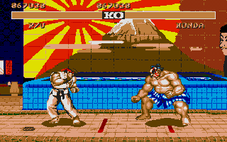 Street Fighter II Atari ST Ryu vs E. Honda.