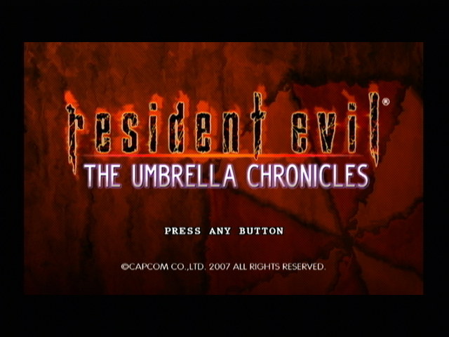 Resident Evil: The Umbrella Chronicles Wii Title screen
