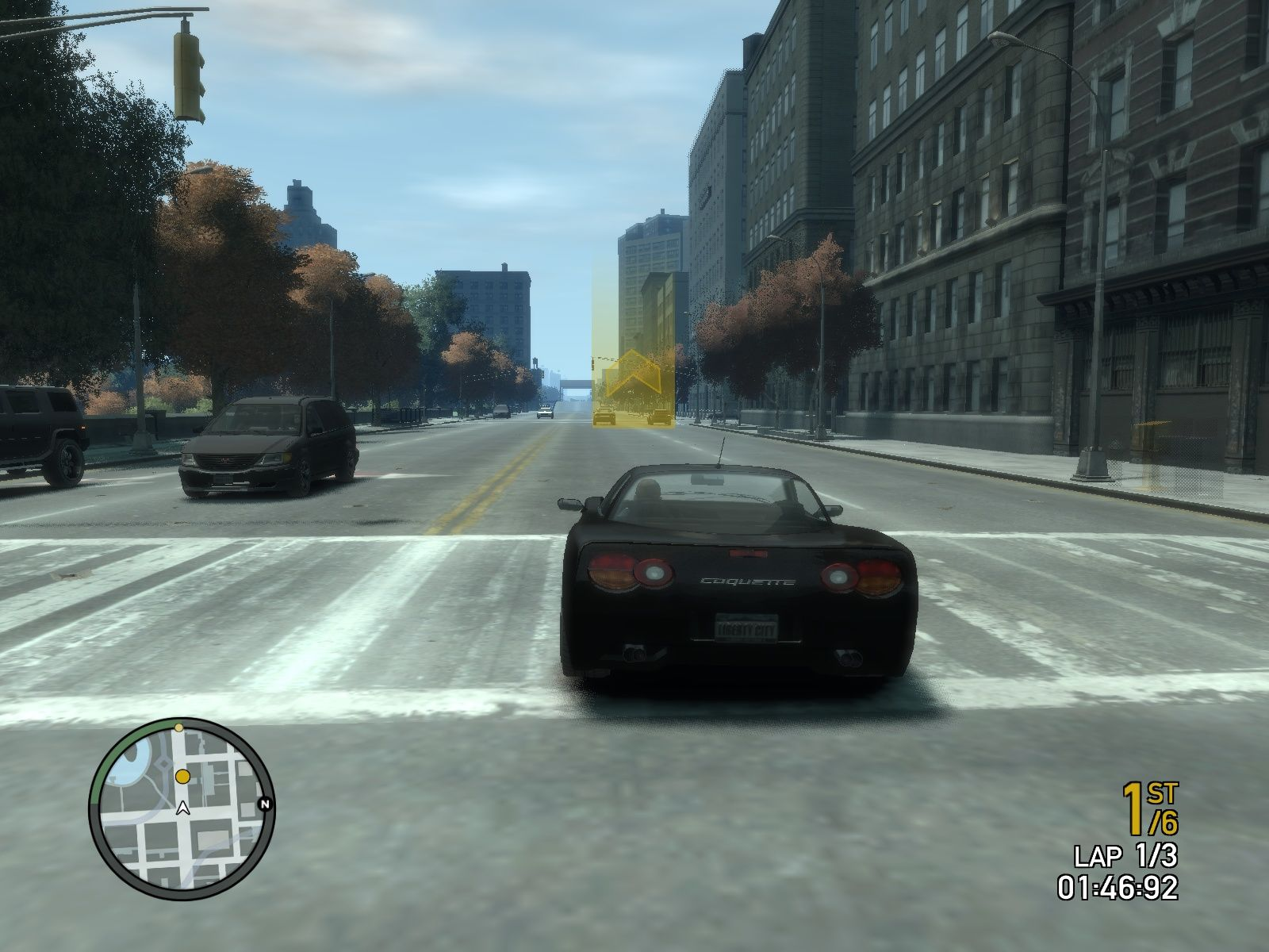 Grand Theft Auto IV Windows Racing in my sweet corvette.