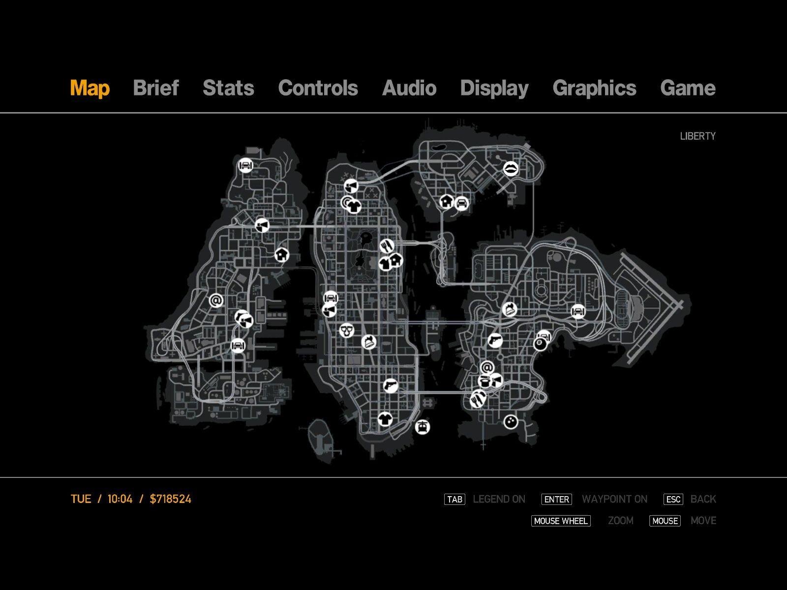 Grand Theft Auto IV Windows The fully uncovered game map.