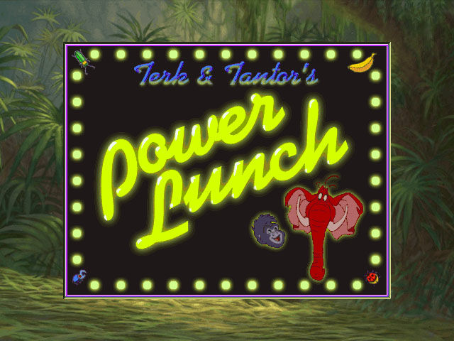 Disney's Hot Shots: Terk & Tantor Power Lunch Windows Title screen