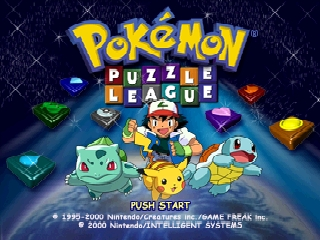 Pokémon Puzzle League Nintendo 64 Title screen