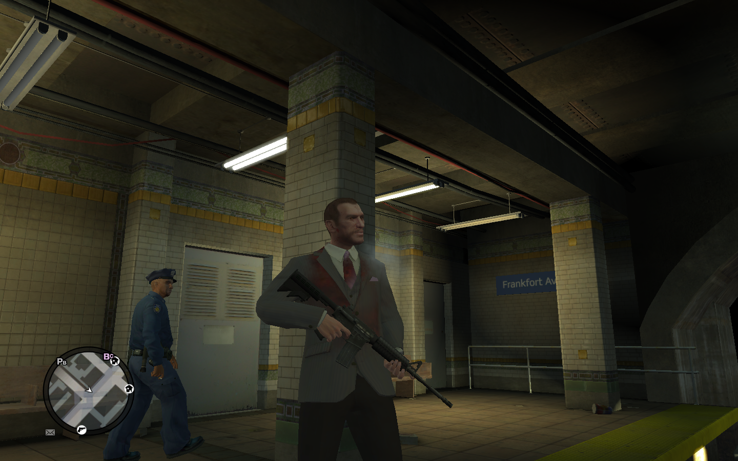 Grand Theft Auto IV Windows Blood-covered clothes after a shootout