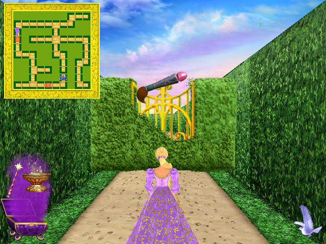 Barbie as Rapunzel: A Creative Adventure Windows Use your box of magic tools to overcome obstacles in the maze.