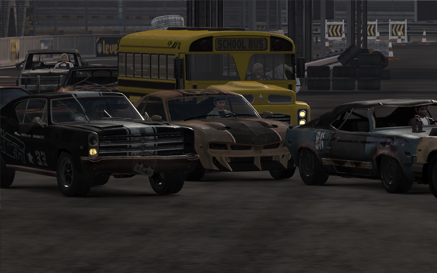 FlatOut: Ultimate Carnage Windows Bonus cars like the school bus can be unlocked with carnage mode