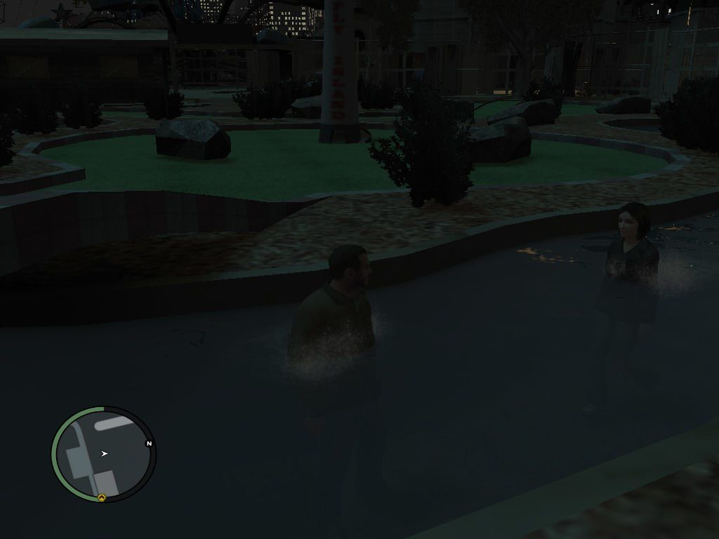 Grand Theft Auto IV Windows Michelle was very tolerant during the First Date...Enjoying the water in mini-Golf Club...:-)