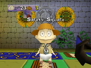 Rugrats: Scavenger Hunt Nintendo 64 The sandbox is a safety square.