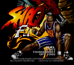 Shaq Fu SNES Title screen