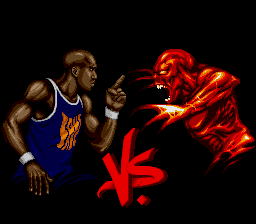 Shaq Fu SNES Matchup screen