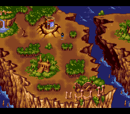 Shaq Fu SNES Map screen