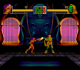 Shaq Fu SNES Throwing a punch.