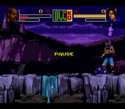 Shaq Fu SNES The game lets you pause during a fight.