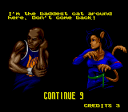 Shaq Fu SNES Continue screen