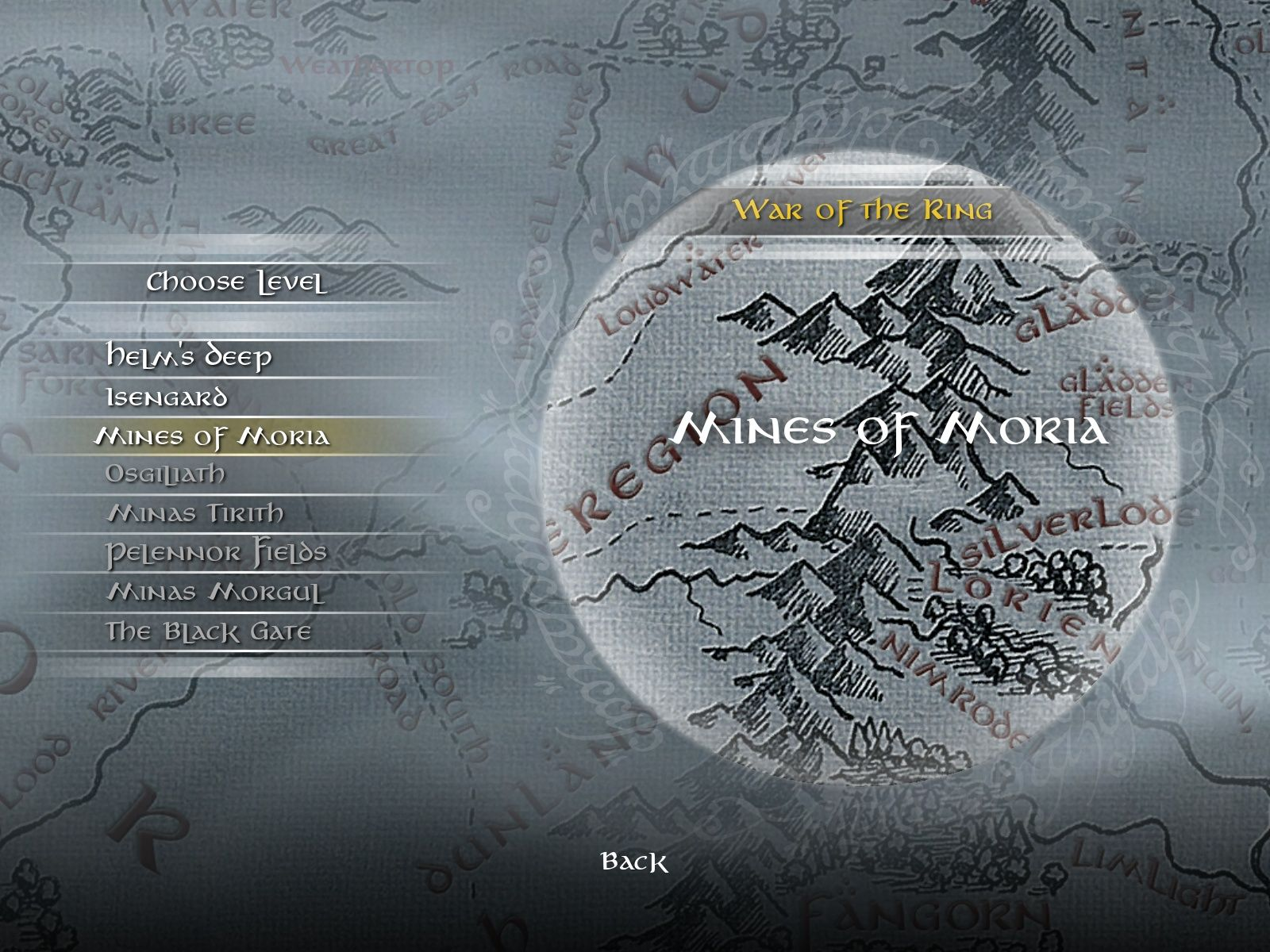The Lord of the Rings: Conquest Windows Single Player Map Selection