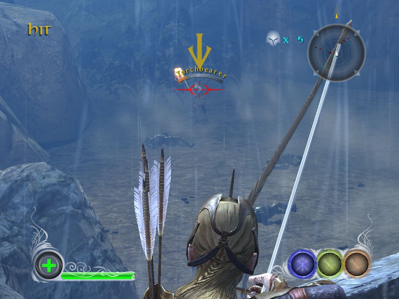 The Lord of the Rings: Conquest Windows Zooming in on a Torchbearer for the kill.