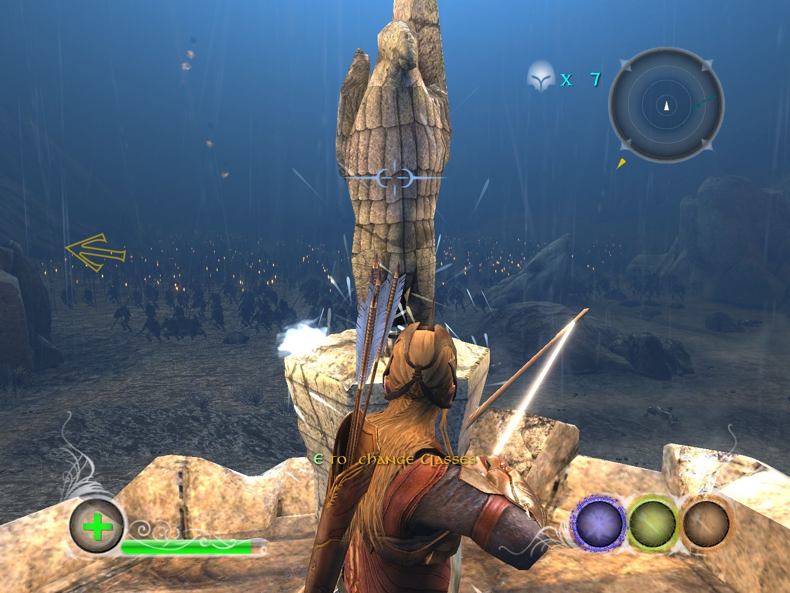 The Lord of the Rings: Conquest Windows At these statues the player can change his class.
